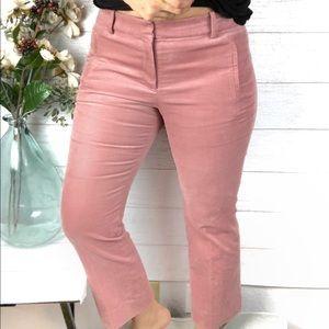 J. CREW Pink Corduroy Cropped Dress Pants
